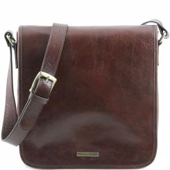 Мужская сумка планшет квадратного формата, выполненная из натуральной кожи от Tuscany Leather, арт. MESSENGER TL141260