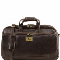 Мужская кожаная дорожная сумка на двух колесах и с выдвижной ручкой от Tuscany Leather, арт. Samoa TL141452