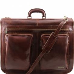 Коричневый мужской кожаный портплед с двумя просторными отделами от Tuscany Leather, арт. TAHITI TL3030