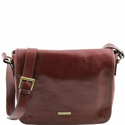 Практичная кожаная сумка через плечо для мужчин, модель для документов от Tuscany Leather, арт. TL Messenger TL141301
