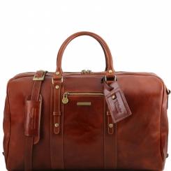 Дорожная мужская кожаная сумка с большим отделом и съемным плечевым ремнем от Tuscany Leather, арт. TL Voyager TL141401