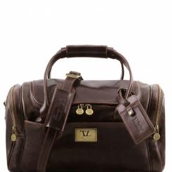 Дорожная мужская кожаная сумка с длинными ручками и съемным плечевым ремнем от Tuscany Leather, арт. TL Voyager TL141441