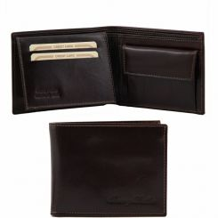 Мужское портмоне из натуральной кожи с откидной частью внутри от Tuscany Leather, арт. TL140763