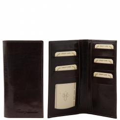 Вертикальное мужское портмоне из натуральной кожи коричневого цвета от Tuscany Leather, арт. TL140784