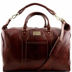 Большая мужская кожаная дорожная сумка с одним вместительным отделом от Tuscany Leather, арт. AMSTERDAM TL1049