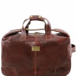Мужская кожаная дорожная сумка на двух колесах и с выдвижной ручкой от Tuscany Leather, арт. Barbados TL141537