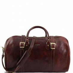 Практичная и удобная мужская дорожная сумка из плотной натуральной кожи от Tuscany Leather, арт. BERLINO TL1013