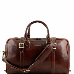 Мужская кожаная дорожная сумка с двусторонней молнией и двумя ремнями от Tuscany Leather, арт. BERLINO TL1014