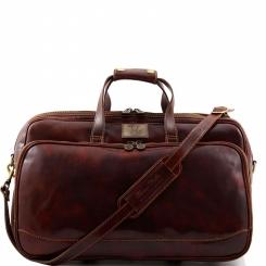 Практичная мужская дорожная сумка из натуральной кожи с большими карманами от Tuscany Leather, арт. BORA BORA TL3065