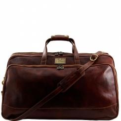 Вместительная мужская кожаная дорожная сумка для путешествий от Tuscany Leather, арт. BORA BORA TL3067