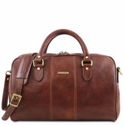 Дорожная мужская кожаная сумка для коротких поездок и походов в спортзал от Tuscany Leather, арт. Lisbona TL141658
