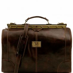 Компактный мужской саквояж для путешествий, выполненная из натуральной кожи от Tuscany Leather, арт. MADRID TL1023