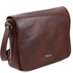 Оригинальная и стильная мужская кожаная сумка через плечо для документов от Tuscany Leather, арт. MESSENGER TL141253