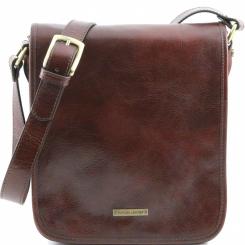Стильная мужская сумка планшет из коричневой натуральной кожи от Tuscany Leather, арт. MESSENGER TL141255