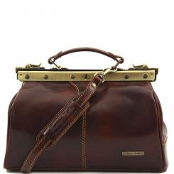 Небольшой саквояж из качественной полированной натуральной кожи от Tuscany Leather, арт. MICHELANGELO TL10038