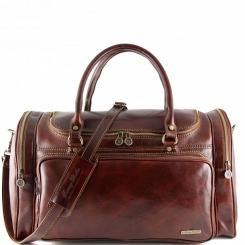 Мужская кожаная дорожная сумка с несколькими внешними карманами от Tuscany Leather, арт. PRAGA TL1048
