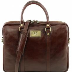 Практичная мужская деловая сумка для документов из натуральной гладкой кожи от Tuscany Leather, арт. PRATO TL141283
