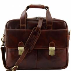 Мужская деловая сумка для документов и ноутбука с двусторонней молнией от Tuscany Leather, арт. REGGIO EMILIA TL140889