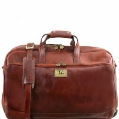 Дорожная мужская кожаная сумка для путешествий и командировок от Tuscany Leather, арт. Samoa TL141453