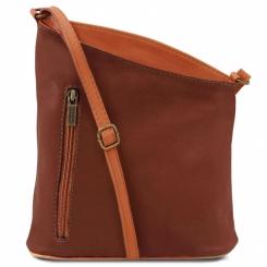 Оригинальная женская кожаная сумка через плечо асимметричной формы от Tuscany Leather, арт. TL BAG TL141111