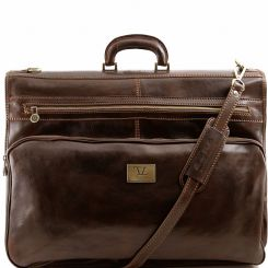 Коричневый мужской портплед из натуральной кожи с двумя отделами от Tuscany Leather, арт. TL3056