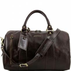 Практичная мужская дорожная сумка из полированной натуральной кожи от Tuscany Leather, арт. VOYAGER TL141216