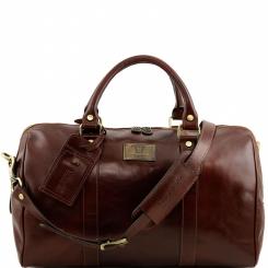 Удобная мужская дорожная сумка из натуральной коричневой кожи от Tuscany Leather, арт. VOYAGER TL141250