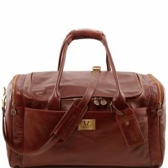 Дорожная мужская сумка из натуральной кожи с гладкой фактурой от Tuscany Leather, арт. VOYAGER TL141281
