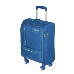 Дорожный чемодан-тележка из прочного материала синего цвета от Verage, арт. GM16014w18.5 blue