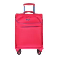 Ярко-розовый дорожный чемодан на колесах, подходит в ручную кладь от Verage, арт. GM17019W18.5 rose red