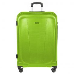 Яркий чемодан тележка на колесах, из поликарбоната, зеленого цвета от Verage, арт. GM15105W19 apple green