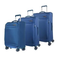 Комплект из трех чемоданов на колесах, из полиэстера, тёмно синего цвета от Verage, арт. GM17016W 20/25/29 dark bl