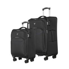 Комплект из двух чемоданов на колесах, из полиэстера, черного цвета от Verage, арт. GM17026W 18,5/24 black