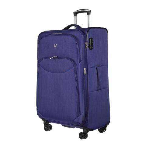 Большой чемодан тележка на колесах, из полиэстера, фиолетового цвета от Verage, арт. GM17026W24 purple