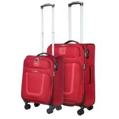 Комплект из двух чемоданов на колесах, красного цвета, с кодовым замком от Verage, арт. GM18054W 19/24 red