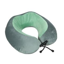 Дорожная подушка, с ортопедическим наполнителем, для поездок от Verage, арт. VG5213 green-dark grey