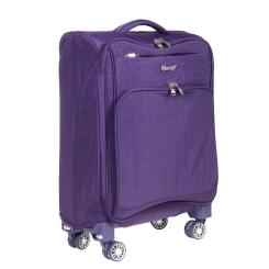 Вместительный дорожный чемодан-тележка из фиолетового материала от Verage, арт. GM15012 w20 purple