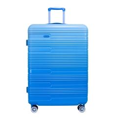 Голубой чемодан на четырех колесах и с выдвижной верхней ручкой от Verage, арт. GM16037w28 blue