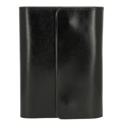 Кожаная обложка для блокнота, черного цвета, с карманами для пластиковых карт от Versado, арт. 030 black