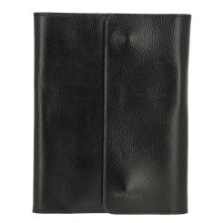 Обложка для блокнота, из натуральной кожи черного цвета, с кармашками для карт от Versado, арт. 030 relief black