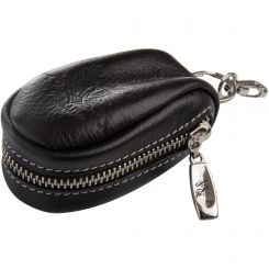 Черная ключница оригинальной формы с металлической молнией по периметру от Versado, арт. 049 black