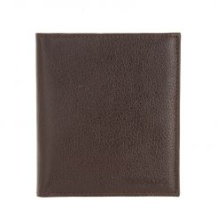 Коричневая визитница из натуральной кожи с естественной фактурой от Versado, арт. 078 brown