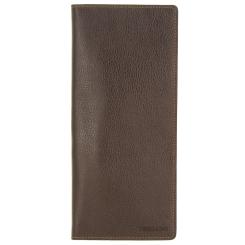 Коричневая кожаная визитница вертикального формата от Versado, арт. 084 brown