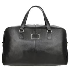 Классическая мужская дорожная сумка из черной натуральной кожи от Versado, арт. 107-1 black
