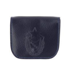 Практичная кожаная монетница, выполненная в виде кобуры от Versado, арт. 137 navy sport