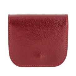 Монетница из качественной красной натуральной кожи с зернистой фактурой от Versado, арт. 137 red