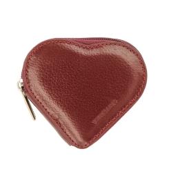 Стильная кожаная монетница, выполненная в форме сердца от Versado, арт. 150 red