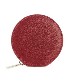 Монетница из натуральной кожи, красного цвета, с одним отделением от Versado, арт. 157 red