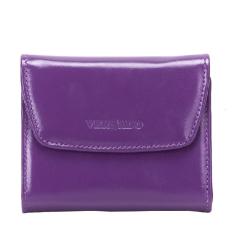 Маленький фиолетовый женский кошелек из лакированной натуральной кожи от Versado, арт. 172 violet