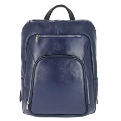 Мужской рюкзак из натуральной кожи, синего цвета, для документов и ноутбука от Versado, арт. VD013 navy